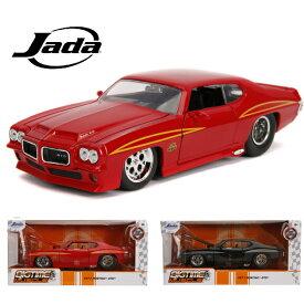 ミニカー BTM 1971 ポンティアック GTO 1/24スケール ■ JadaTOYS Pontiac GTO SS トイカー おもちゃ 車 ブラック 黒 レッド 赤 箱入り アメ車