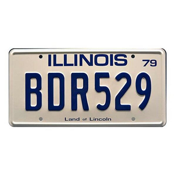 【ナンバープレート】ブルースブラザーズ イリノイ州 BDR 529 ライセンス プレート 15.5cm×30.5cm ブルー ホワイト【The Blues Brothers ILLINOIS BLUES MOBILE ブルースモービル インテリア 雑貨 壁掛け ガレージ 車】