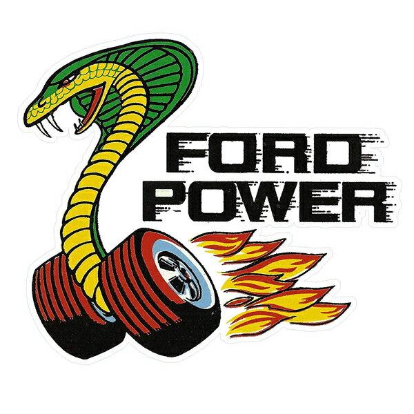 【ステッカー シール】Ford Power フォード コブラ デカール 約11cm×13cm【蛇 高品質 雑貨 サイン カーステッカー】