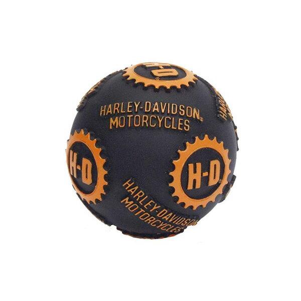 【ハーレーダビッドソン】【犬用おもちゃ】H D ロゴ ビニール ボール ドッグ トイ【噛むと音が鳴るおもちゃ】【Harley-Davidson ペット用品 ドッグ】