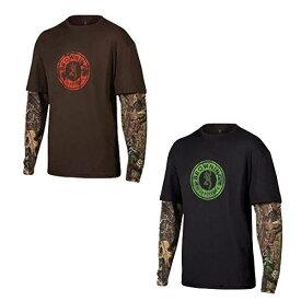 【ブローニング】【Tシャツ】メンズ ロングスリーブ ライダーカモTシャツ ティンバー ブラック ミディアム(Mサイズ)【BROWNING 長袖】 ◇ クリスマス プレゼント