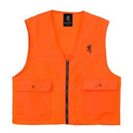 ブローニング ベスト セーフティー ブレイズ ハンティングベスト Mサイズ オレンジ ■ BROWNING 狩猟 メンズ