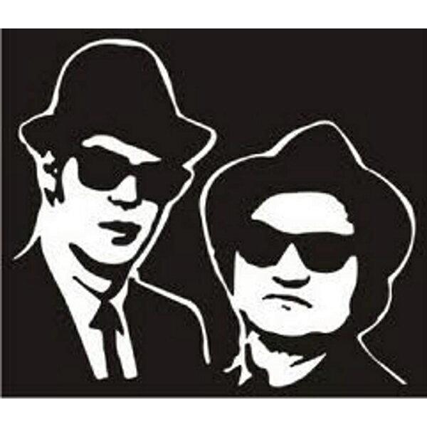 【ステッカー シール】ブルース・ブラザーズ デカール 約12.5cm×15cm 【Blues Brothers 映画 高品質 サイン ビニール 雑貨 車 アメリカンコメディ R&B バンド】