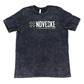 【ノベスキー】【半袖 Tシャツ】NOVESKE ロゴ ミネラルウォッシュ加工 Sサイズ ブラック【NOVESKE ノベスケ アパレル メンズ ミリタリー】
