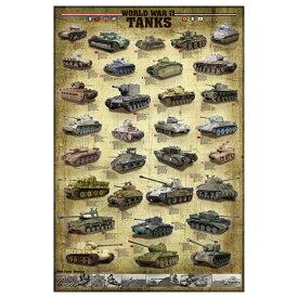 【ポスター】World war 2 tanks (第二次世界大戦 戦車) 縦91cm×横61cm【ディスプレイ インテリア】