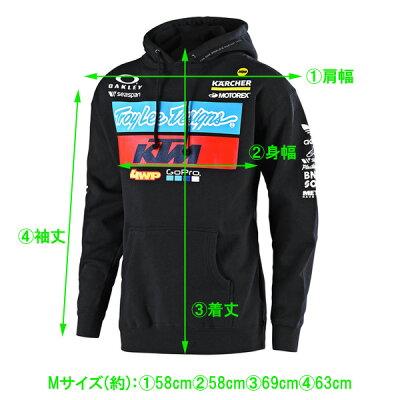 【トロイリーデザインズ】【パーカー】KTMチームフリースパーカー2019年モデルMサイズネイビーマルチカラー【TroyLeeDesignsアパレルプルオーバー】