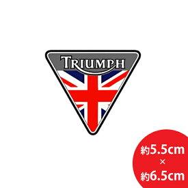 【ステッカー シール】TRIUMPH (トライアンフ)×ユニオンジャック 三角形デカール 約5.5cm×約6.5cm 【バイク オートバイ イギリス British Flag 高品質 英国旗 アメリカ雑貨 サイン カーステッカー 車】