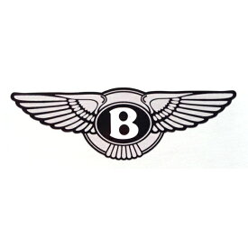 【ベントレー】【ステッカー シール】BENTLEY ロゴ デカール 約2.5cm×約7.5cm 【 Bentley サイン バイク】