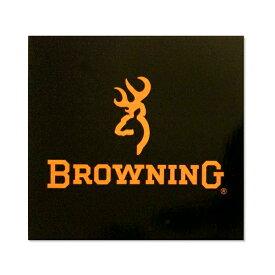 【ブローニング】【ステッカー シール】BROWNING 鹿マーク&ロゴ デカール 約7.5cm×約7.5cm ブラウン×ブラック【ミリタリー browning アウトドア サバゲー ビニール サイン 】 ◇ クリスマス プレゼント