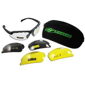 【保護 メガネ】【SSP EYEWEAR】トップ フォーカル グラス くもり止め加工 クリア イエロー ブラック 3カラーセット +1.0 +1.5 +2.0 +2.5【老眼鏡 アイウェア ゴーグル クレー シューティング 整備士 電気工事士 工場 アウトドア バイク バイカー サングラス】