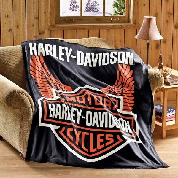 【インテリア・雑貨】ハーレーダビッドソン 軽量 フリース ブランケット 152cm×127cm コレクションETC【Harley-Davidson】