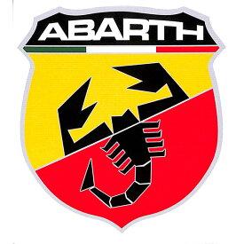 【デカール】アバルト(ABARTH) エンブレム ウィンドウステッカー 11×10cm(カーステッカー)【シール・カー用品】