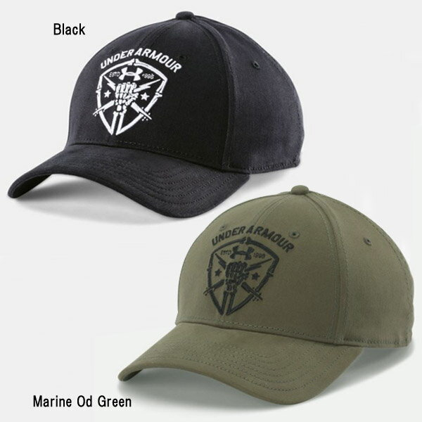 【帽子】【UNDER ARMOUR (アンダーアーマー)】 メンズ フリーダムライトニングキャップ  ブラック/マリンODグリーン(1254275)【ベースボールキャップ】