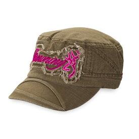 【ブローニング】【帽子・キャップ】レディース ジナキャップ オリーブ/マゼンダ 【BROWNING 帽子 刺繍入り 女性用 シューティング アウトドア】【米国輸入品】