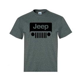【在庫あり・即納】【Jeep Wrangler】ジープ ラングラー ロゴ 半袖Tシャツ グレー【メンズ ファッション アパレル】