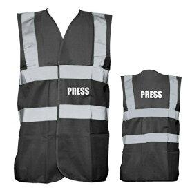 反射材付き プレスベスト S M L サイズ ■ ファッション 衣装 なりきり 取材 記者 ハロウィン ハロウィーン