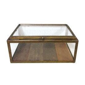 【DULTON】 ダルトン ガラス コレクション ボックス アンティークゴールド 【ディスプレイ アクセサリー】