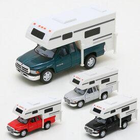 【ダッジ】【ミニカー】 プルバック式ミニカー ダッジラム with トラック キャンパー 1/46【Dodge ダイキャスト キャンピングカー】 【RAM】