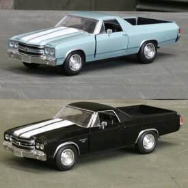 【シボレー】【ミニカー】エルカミーノ 1970 1/24 ブルー ブラック 【Chevrolet Chevy シェビー NewRay】 【ニューレイ】