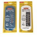 【マーキュリー】 【温度計】メタル サーモメーター ブルー ホワイト【MERCURY アナログ温度計 おしゃれ】