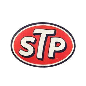 【ブリキ看板】STP エンボス ティンサイン 縦28cm×横40.5cm【インテリア 雑貨 壁掛け ガレージ】