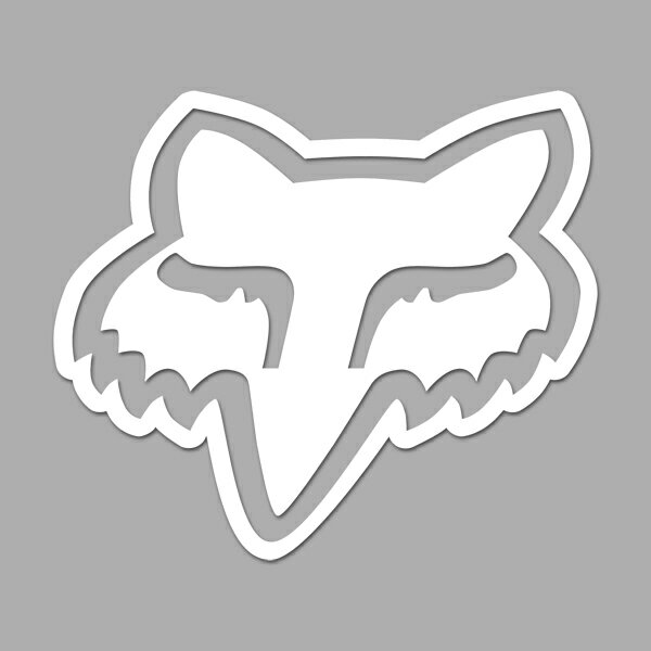 【ステッカー シール】フォックス イラスト デカール 約11cm×約13cm【 Fox きつね 高品質 カーステッカー サイン マーク】