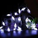 [LEDイルミネーション] ゴースト型 ガーランド ライト 約4.5m リモコン付き ■ 飾り 電飾 おばけ パーティー ハロウィ…
