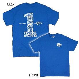 【コルト】 【Tシャツ】COLT ロゴ 半袖Tシャツ US Sサイズ Mサイズ ブルー 【アパレル メンズ ミリタリー】