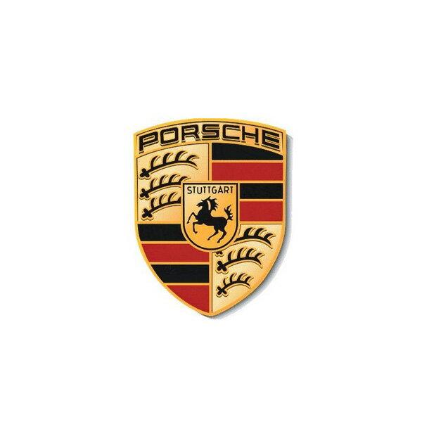 【ポルシェ】【ステッカー】エンブレム ロゴ 影入り デカール 6.5cm×5.5cm【PORSCHE シール 雑貨 車用品】