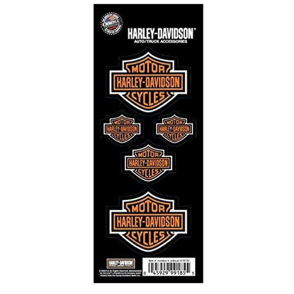 【ハーレーダビッドソン】【ステッカー】バー&シールド ロゴ デカール 3種サイズセット【Harley Davidson 雑貨 シール バイク】