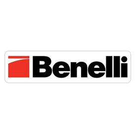 【ステッカー】ベネリ ロゴ デカール 約5cm×20.5cm ホワイト【benelli ミリタリー 雑貨 ビニール シール 白】