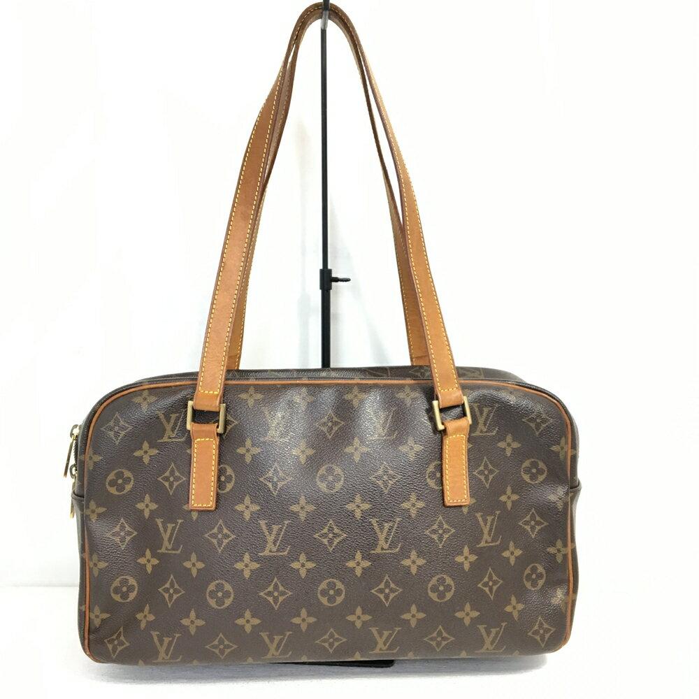 【送料無料】【中古】【レディース】LOUISVUITTON ルイ・ヴィトン モノグラム シテGM M51181 FL0092 トートバッグ BAG かばん 鞄 廃盤モデル カラー:ブラウン