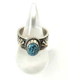 【送料無料】【中古】【メンズ】Orville White オーヴィルホワイト ナバホ族ターコイズリング 指輪 シルバーアクセサリー インディアンジュエリー カラー:シルバー