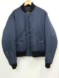 【中古】【メンズ】UNDER COVER アンダーカバー MA-1 ブルゾン フライトジャケット サイズ:L カラー:ネイビー 万代Net店