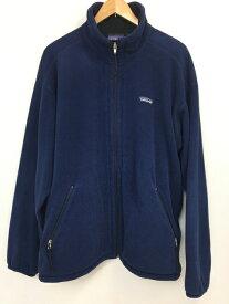 【中古】【メンズ】patagonia パタゴニア フリースジャケット USA製 定番 カラー:NAVY ネイビー 紺 サイズ:L 万代Net店