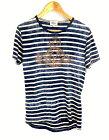 """【中古】【メンズ】Vivienne Westwood MAN ヴィヴィアンウエストウッド マン """" オーブ / ボーダー プリント T-sh """" Orb / Border Print Tee Tシャツ 半袖 TOPS トップス 品番:VW-GT-86426 サイズ表記:46 カラー:BEIGE / BLUE ベージュ / ブルー 万代Net店"""