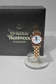 【中古】Vivienne Westwood ヴィヴィアンウエストウッド VW77C7-B04 ダイアモンドシェル ウォッチ ホワイト ピンクゴールド リストウォッチ ブレスレットウォッチ 腕時計