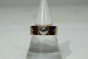 【中古】【美品】LOUIS VUITTON ルイヴィトン リング ナノグラム M00214 シングルスタッズ 指輪 ピンクゴールド 万代Net店