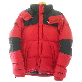 【中古】The North Face ノースフェイス サミットダウンジャケット 90sダウン復刻 キッズ 品番:NFJ1DD89 サイズ:95(キッズXL) カラー:レッド ブラック アウトドア 万代Net店