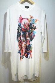 【中古】COMME des GARCONS HOMME PLUS コムデギャルソン オム プリュス プリントTシャツ サイズL メンズ ドメスティック 万代Net店