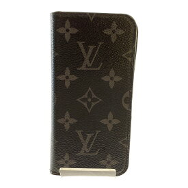 【中古】【メンズ】【レディース】LOUIS VUITTON iPhone Case M63446 ルイヴィトン モノグラム・エクリプス フォリオ IPHONE X アイフォンケース 小物 ハイブランド サイズ:下記参照 カラー:BLACK 万代Net店