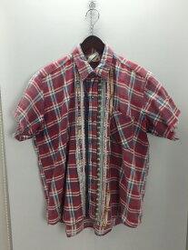 【中古】【メンズ】SONIC LAB RIBBON SHIRT リメイクシャツ NEPENTHES ソニックラブ ネぺンテス 半袖シャツ サイズ:表記無し カラー:マルチカラー