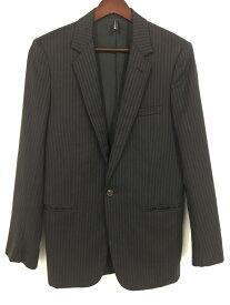 【中古】【メンズ】Dior HOMME チョークストライプ 1Bジャケット 4HH1071811 ディオールオム 04AW VICTIM期 サイズ:44 カラー:BLACK