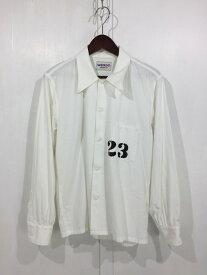 【中古】【メンズ】WEIRDO 18AW PADLOCKER SHIRTS WRD-18-AW-24 ウィアードパドロッカーシャツ 長袖シャツ サイズ:S カラー:WHITE 万代Net店