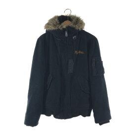 【中古】【メンズ】HYSTERIC GLAMOUR ウール N-2B ジャケット 0214AB02 ヒステリックグラマー アウター サイズ:L カラー:BLACK 万代Net店