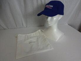 【中古】BALENCIAGA バレンシアガ NEW POLITICA LOGO CAP ロゴ 刺繍  万代Net店