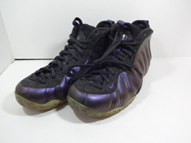 【中古】NIKE AIR FOAMPOSITE ONE EGGPLANTナイキ フォームポジット ワン BLACK/VARSITY PURPLE/VARSITY PURPLE 314996-008 送料無料