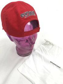 【美中古品】【メンズ レディース】BALENCIAGA バレンシアガ 18SS europa cap ヨーロッパ キャップ 帽子 サイズ:L カラー:レッド