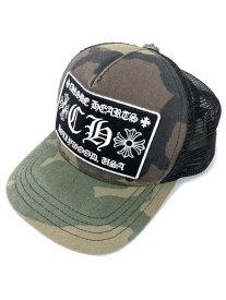 【中古】【メンズ】CHROME HEARTS クロムハーツ トラッカーキャップ 帽子 サイズ:F カラー:グリーン 万代Net店