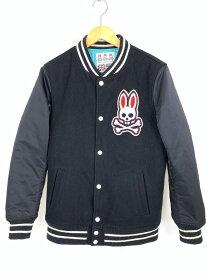【中古】【メンズ】Psycho Bunny サイコバニー BIG LOGO スタジャン ジャケット アウター サイズ:L 万代Net店